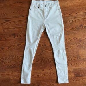 Cheap Monday Jeans - NWT Cheap Monday High Spray Waist Jeans White 28
